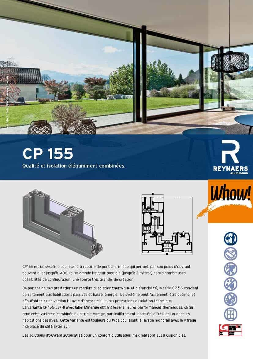 Brochure-Reynaers-ALU-Coulissante-CP155-FR